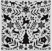 Nordic Holiday Bold Prints - Background Christmas Cling
