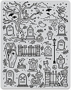 Halloween Scene Peek a Boo - Background Cling Stamp