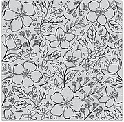 Christmas Rose Bold Prints - A2 Background Cling Stamp