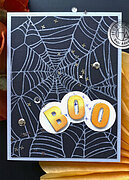 Spider Web Bold Prints - Background Halloween Cling Stamp