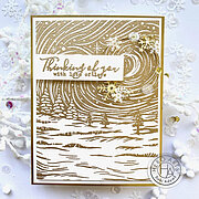 Etched Winter Scene Bold Prints - Background Cling Stamp