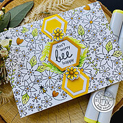 Bees and Flowers Bold Prints - Background Cling Stamp