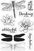 Color Layering Dragonfly - Clear Stamp