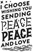 Color Layering Peace - Clear Stamp