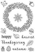 Autumn Wreath - Clear Stamp