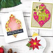 Poinsettia and Ornament Fancy Die - Christmas Craft Die
