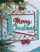 Retro Christmas Messages Frame Cuts - Craft Die