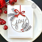 Joy Christmas Ornament Fancy Die - Craft Die