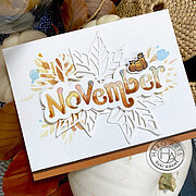November Word Fancy Die - Craft Die