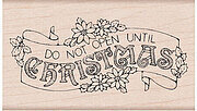 Christmas Banner - Wood Mounted Rubber Stamp