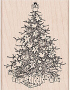 Christmas Tree - Wood Mounted Rubber Stamp