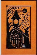Bewitching Hour - Halloween Silhouette - Cross Stitch Patter