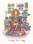 Crazy Cat Lady - Cross Stitch Pattern