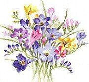 Freesia Posy - Cross Stitch Pattern