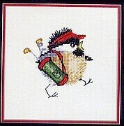 Golfing Chick - Cross Stitch Pattern