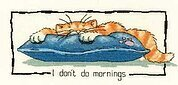 I Don't Do Mornings - Cross Stitch Pattern