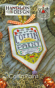 Coffin Paint - Scary Apothecary - Cross Stitch Pattern