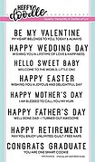 Special Day Sentiment Duos - Clear Stamp