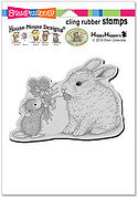 Clover Bouquet - House Mouse Cling Rubber Stamp