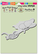Butterfly Ride - House Mouse Cling Rubber Stamp