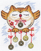 Wealth Owl - Cross Stitch Kit