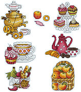 Tasty Living Fridge Magnets - Cross Stitch Kit