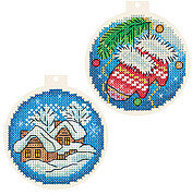 Baubles - Christmas Cross Stitch Kit