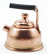 Copper Tea Kettle - Dollhouse Miniature