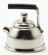 Silver Teapot - Dollhouse Miniature