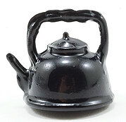 Black Tea Kettle - Dollhouse Miniature