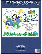 Little Pilot Birth Record - Counted Cross Stitch Kit
