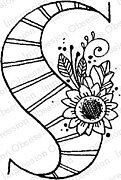 Floral S - Cling Stamp