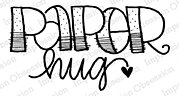 Paper Hug - Cling Rubber Stamp
