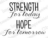 Strength Hope Blessings - Cling Rubber Stamp