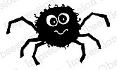 Solid Spider - Cling Rubber Stamp