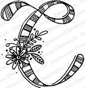 Floral C - Cling Stamp