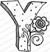 Floral Y - Cling Stamp