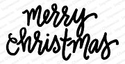 Merry Christmas Bold - Cling Rubber Stamp
