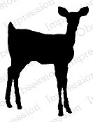 Deer Silhouette 2 - Cling Rubber Stamp