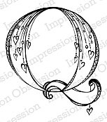 Letter Q Monogram - Cling Rubber Stamp