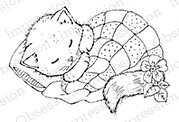 Cat Nap - Cling Rubber Stamp