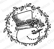 Snow Circle - Cling Rubber Stamp