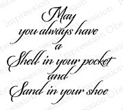 Shell in Your Pocket - Cling Rubber Stamp