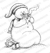 Cocoa - Snowman Cling Rubber Stamp