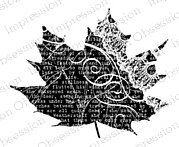 Collage Leaf 5 - Cling Rubber Stamp
