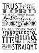Trust - Cling Rubber Stamp