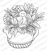 Holiday Teapot - Christmas Cling Stamp