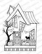 Halloween House - Cling Stamp