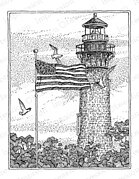 Currituck Lighthouse - Cling Rubber Stamp