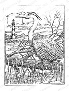 Heron - Cling Rubber Stamp